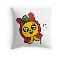 KakaoTalk Muzi and Con Character (Happy) Throw Pillow