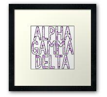 Alpha Gamma Delta Framed Print