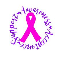 Support Awareness Acceptance - Pink Photographic Print