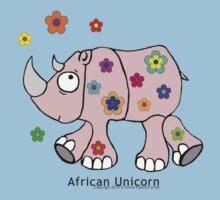 African Unicorn aka the Rhino Baby Tee