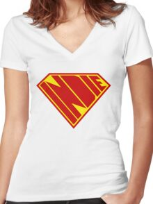 Indie Power Women's Fitted V-Neck T-Shirt