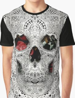 Lace Skull Light Graphic T-Shirt