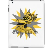 Dr Who The Hell Cares iPad Case/Skin