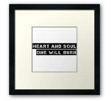 Heart And Soul Joy Division Ian Curtis Quote Music Framed Print