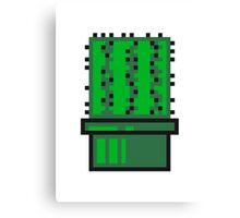 pixel nerd geek gamer videogame 2d 8 bit cactus design games zocken Canvas Print