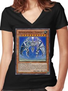 Qliphort Broken Women's Fitted V-Neck T-Shirt