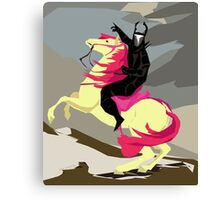 Apple Bloom And Black Knight Canvas Print