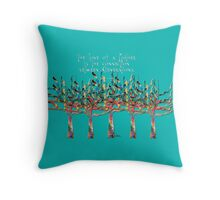Trees colorful w quotation Love of Mother 1R Throw Pillow