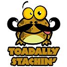 Funny Toadally Stachin Toad by doonidesigns
