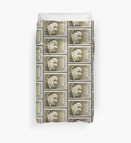 Martin Luther King - India Stamp Duvet Cover