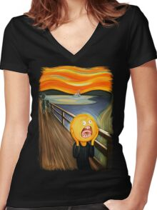 Rick and Morty - The Sun Scream Women's Fitted V-Neck T-Shirt