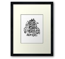 You'll Be In My Heart (On White) Framed Print