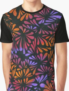 Purple Floral Abstract Graphic T-Shirt