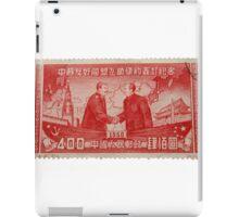 Mao Meets Stalin - Commemorative Stamp iPad Case/Skin
