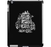 You'll Be In My Heart (On Black) iPad Case/Skin