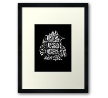 You'll Be In My Heart (On Black) Framed Print