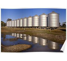 Silo reflection Poster