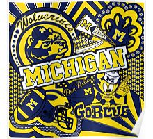 Michigan Collage Poster