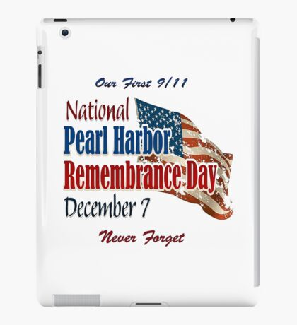 Pearl Harbor Remembrance Day Logo iPad Case/Skin