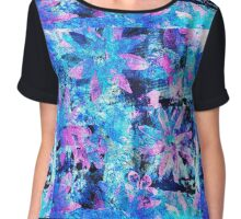 Flower in Black Square 11- Digitally Altered Print  Chiffon Top