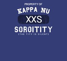 Property of Kappa Nu Soroitity (Washed Out White Text) Unisex T-Shirt