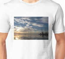 Paddling on the Early Morning Mirror Unisex T-Shirt