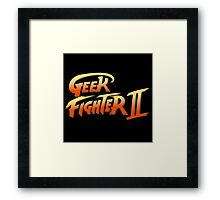 Geek fighter Framed Print