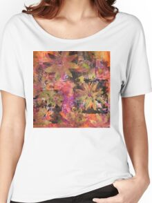 Flower in Black Square (Original Print Colours)  Women's Relaxed Fit T-Shirt