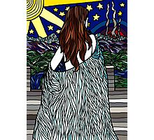 Stained Glass- The Woman Photographic Print