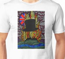 Stained Glass- Tophat and Monocle Unisex T-Shirt