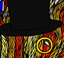 Stained Glass- Tophat and Monocle Sticker