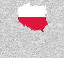 Flag Map of Poland  Unisex T-Shirt