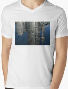 Upside Down Toronto Abstract Mens V-Neck T-Shirt