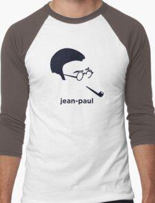 Jean Paul Sartre (Hirsute History) Men's Baseball ¾ T-Shirt