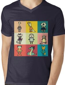 animal party Mens V-Neck T-Shirt