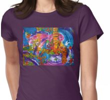 The Crowded Aquarium  Womens Fitted T-Shirt