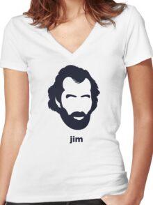 Jim Henson (Hirsute History) Women's Fitted V-Neck T-Shirt