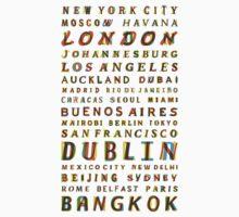 Travel World Cities One Piece - Short Sleeve