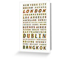 Travel World Cities Greeting Card