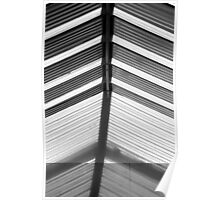Skylight Abstract 10 BW Poster