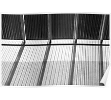Skylight Abstract 9 BW Poster