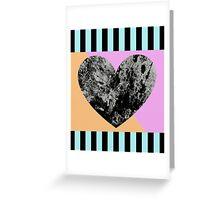 Lunar Heart - Abstract, Geometric, Pop Art Heart Greeting Card