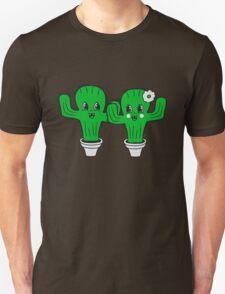 couple love woman man female male girl boy girl boy love flowerpot sweet cute little cactus face comic cartoon child T-Shirt