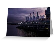 Purple Dawn in Vancouver  Greeting Card