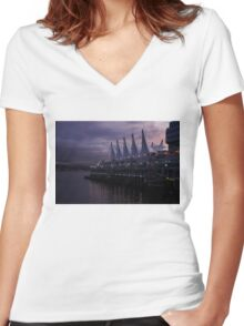 Purple Dawn in Vancouver  Women's Fitted V-Neck T-Shirt