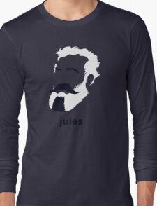 Jules Verne (Hirsute History) Long Sleeve T-Shirt