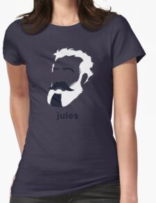 Jules Verne (Hirsute History) Womens Fitted T-Shirt