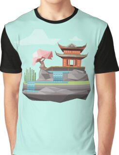 Low-Poly Japanese Island Graphic T-Shirt