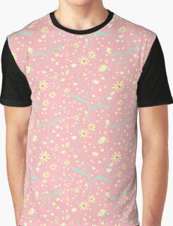 Wild Daisies - Pink Graphic T-Shirt