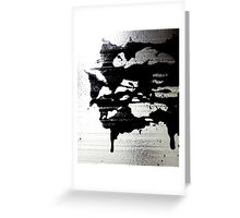 Ink Blot on Silver Greeting Card